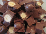 Chocolate & Malteser Bite Fudge